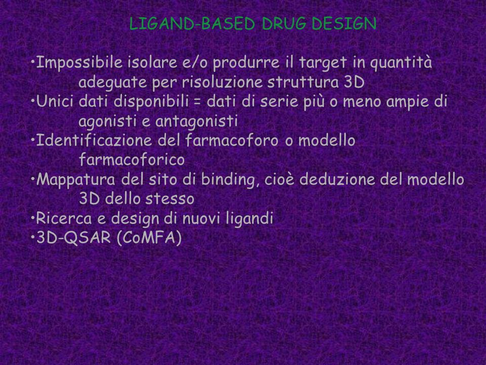 LIGAND-BASED DRUG DESIGN