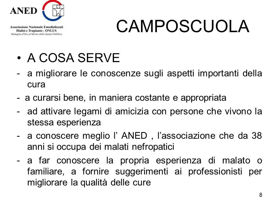 CAMPOSCUOLA A COSA SERVE