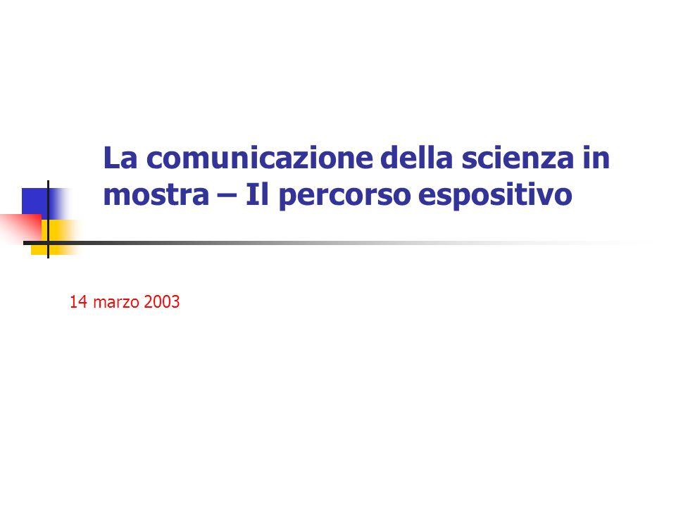 La comunicazione della scienza in mostra – Il percorso espositivo