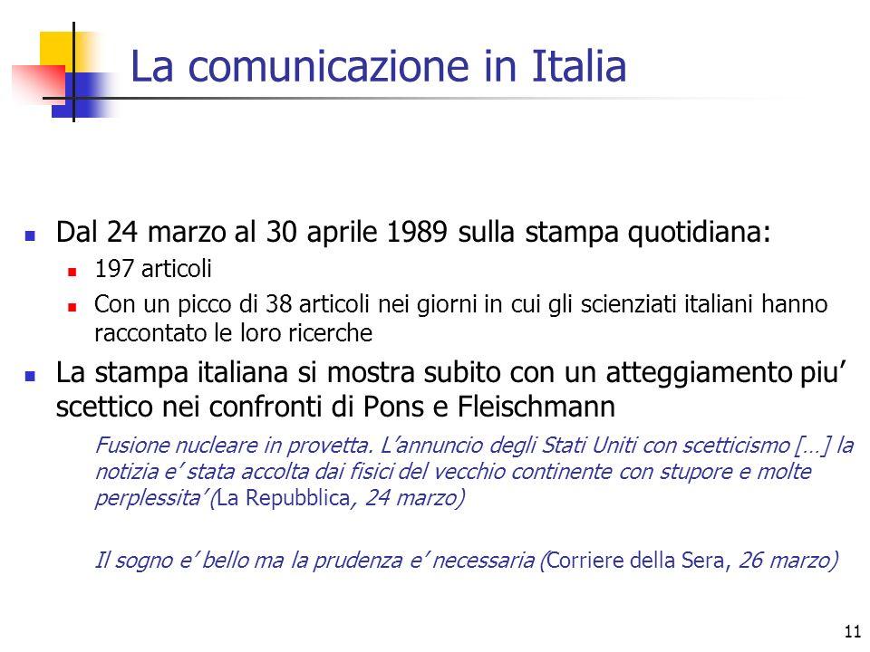 La comunicazione in Italia