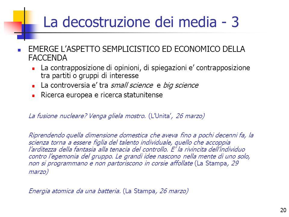 La decostruzione dei media - 3