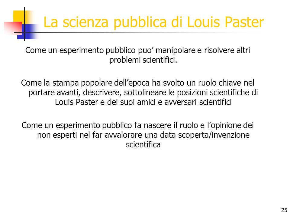 La scienza pubblica di Louis Paster