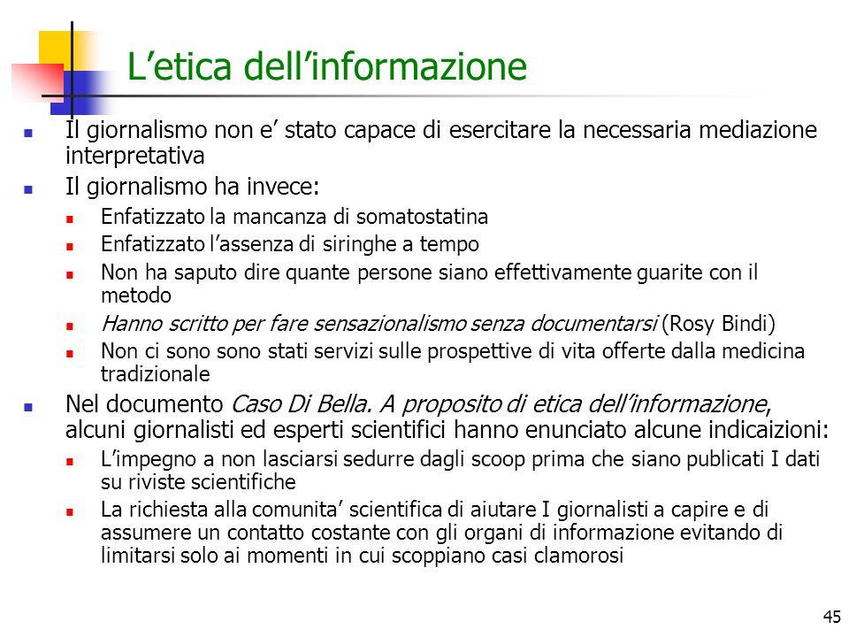 L'etica dell'informazione