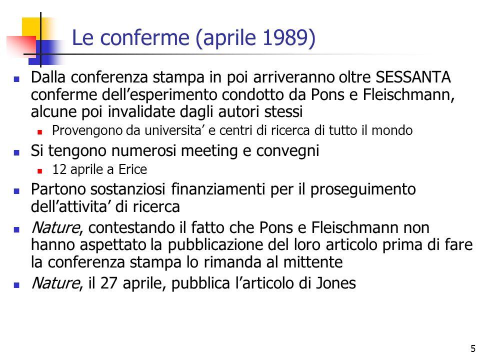 Le conferme (aprile 1989)