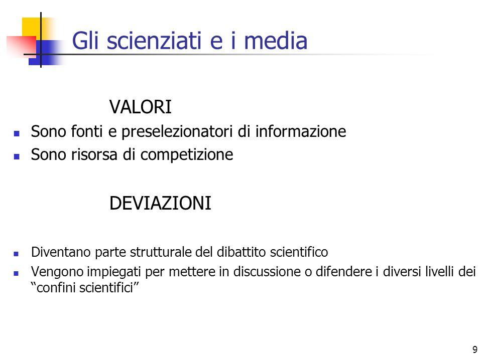 Gli scienziati e i media