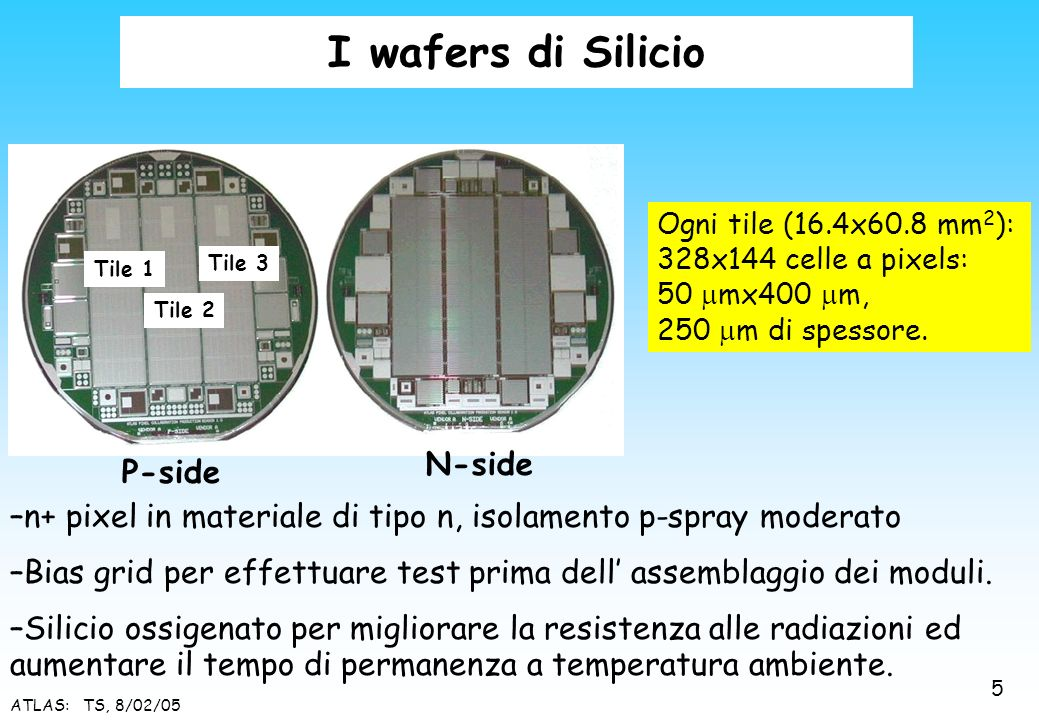 I wafers di Silicio N-side P-side