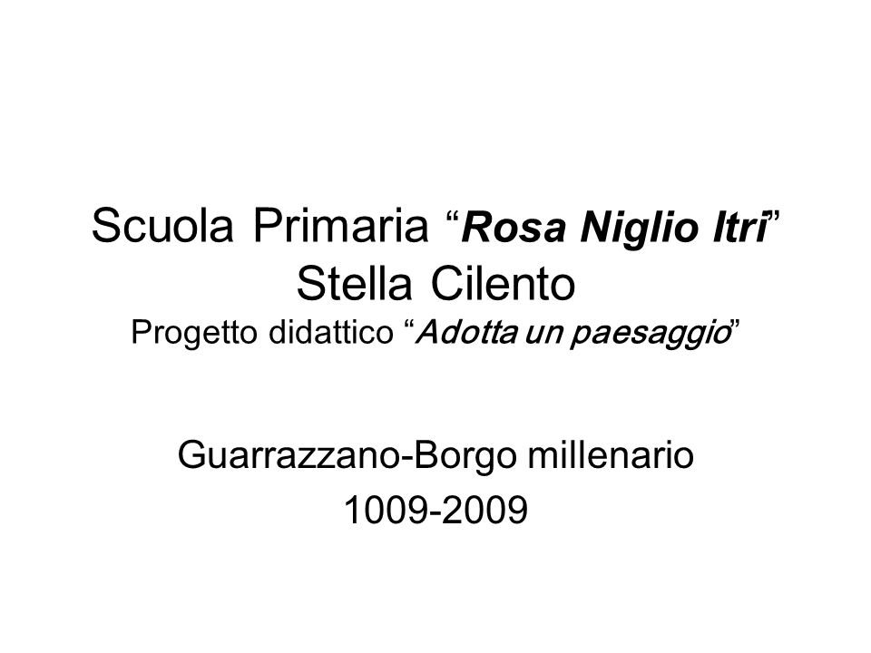 Guarrazzano-Borgo millenario 1009-2009