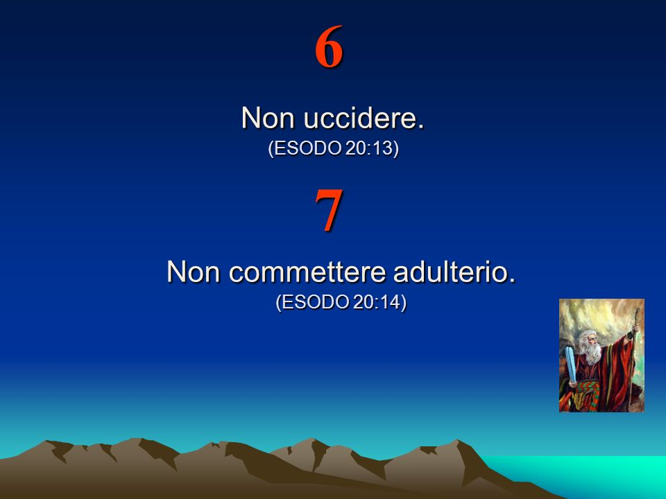 Non commettere adulterio. (ESODO 20:14)