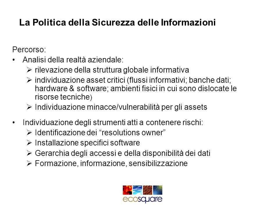La Politica della Sicurezza delle Informazioni