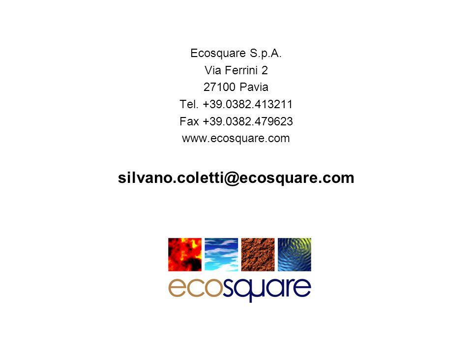 silvano.coletti@ecosquare.com Ecosquare S.p.A. Via Ferrini 2