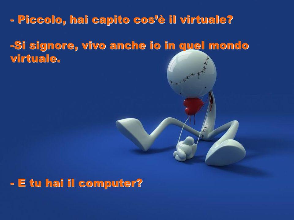 - Piccolo, hai capito cos'è il virtuale