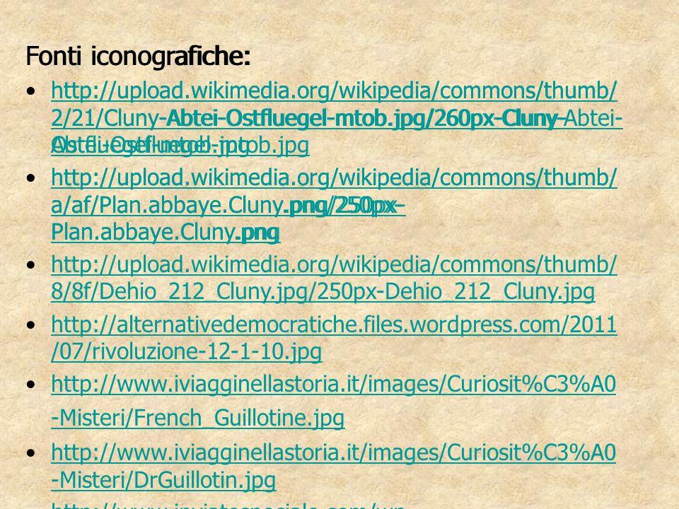 Fonti iconografiche: Fonti iconografiche: