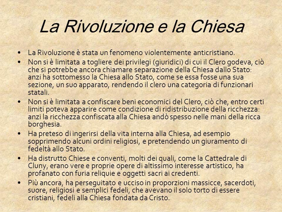 La Rivoluzione e la Chiesa