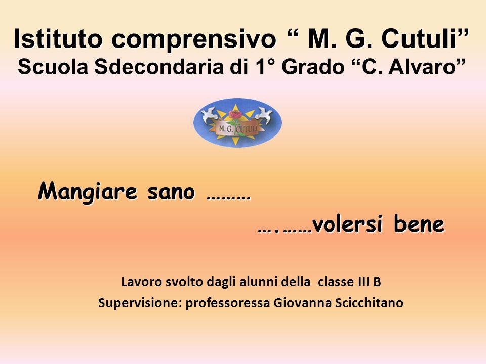 Istituto comprensivo M. G. Cutuli Scuola Sdecondaria di 1° Grado C