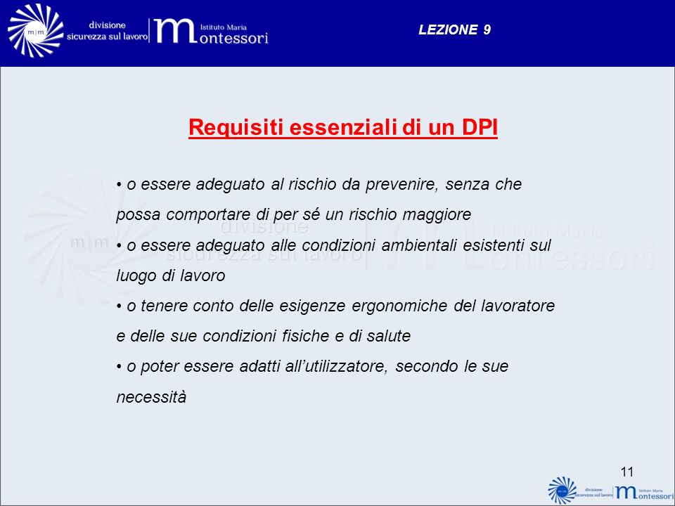 Requisiti essenziali di un DPI