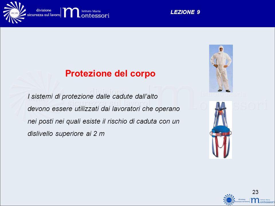 Protezione del corpo I sistemi di protezione dalle cadute dall'alto