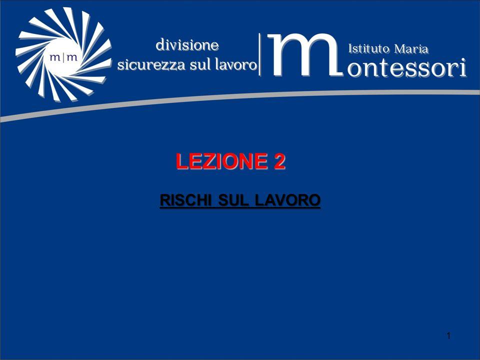 LEZIONE 2 RISCHI SUL LAVORO