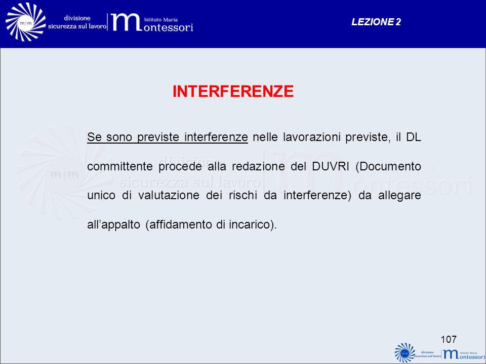 LEZIONE 2 INTERFERENZE.