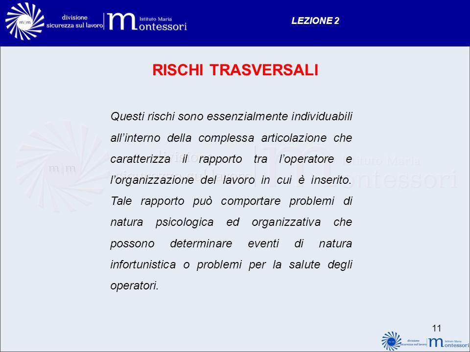 LEZIONE 2 RISCHI TRASVERSALI.