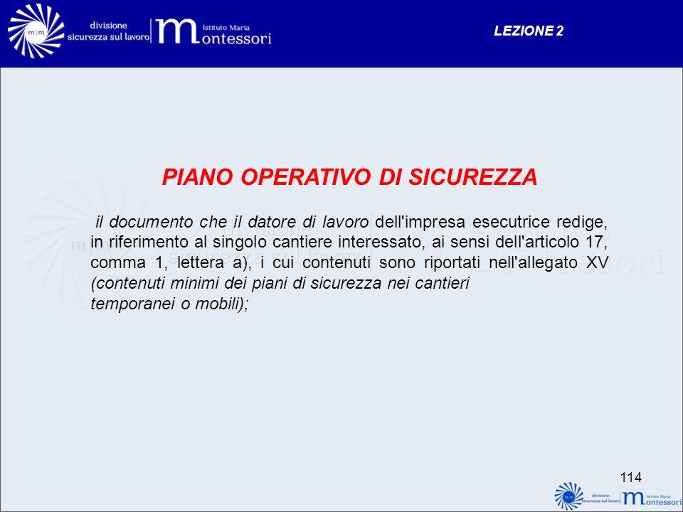 PIANO OPERATIVO DI SICUREZZA