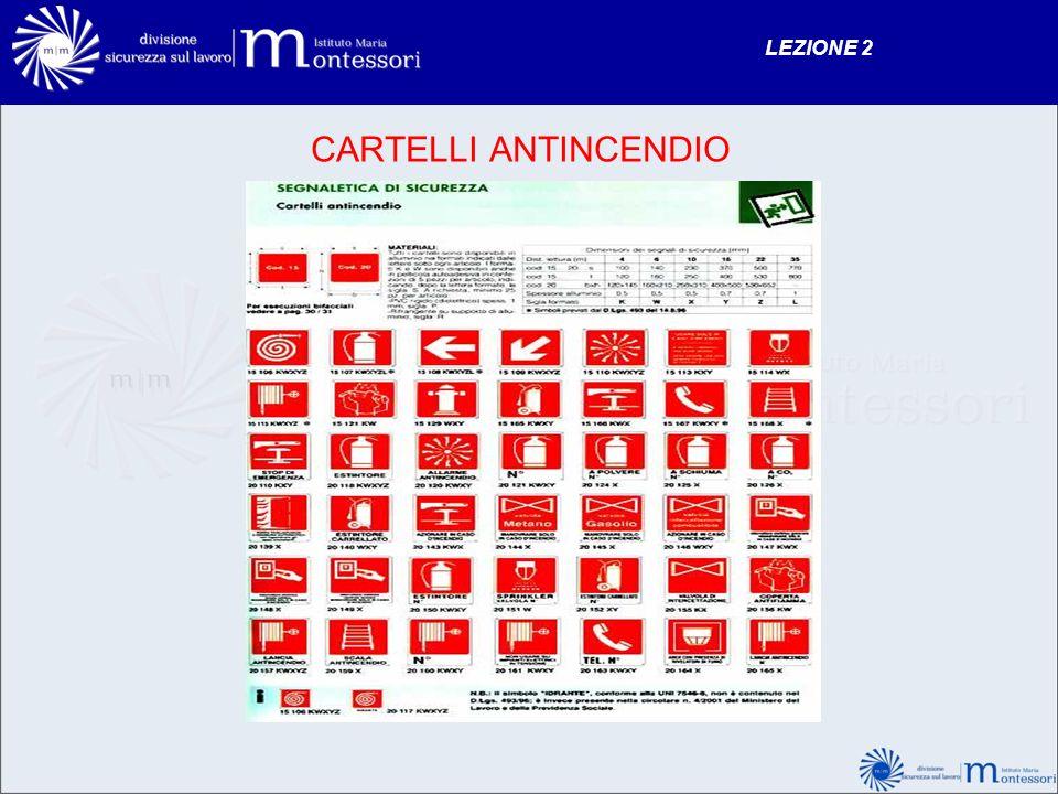 LEZIONE 2 CARTELLI ANTINCENDIO 132