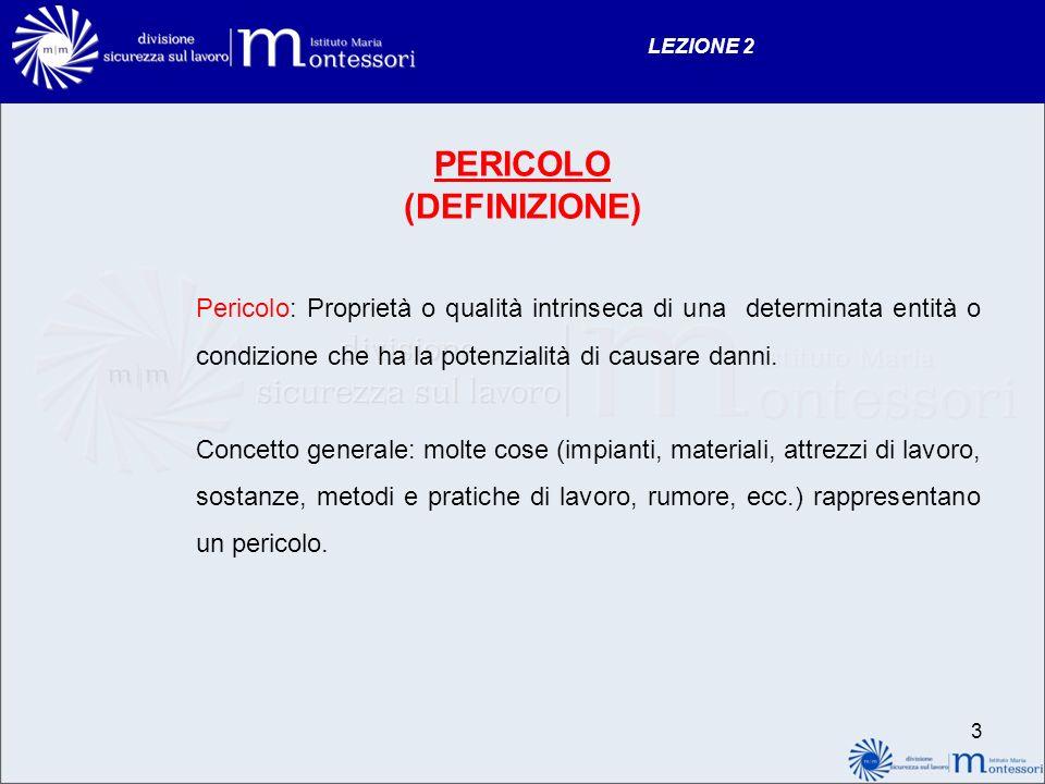 PERICOLO (DEFINIZIONE)