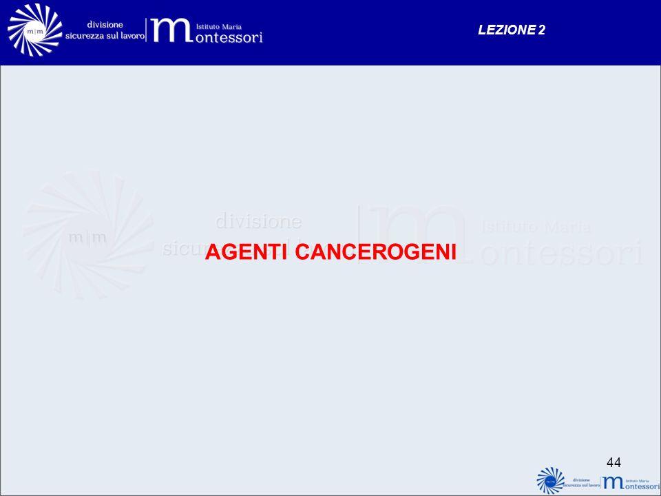 LEZIONE 2 AGENTI CANCEROGENI 44
