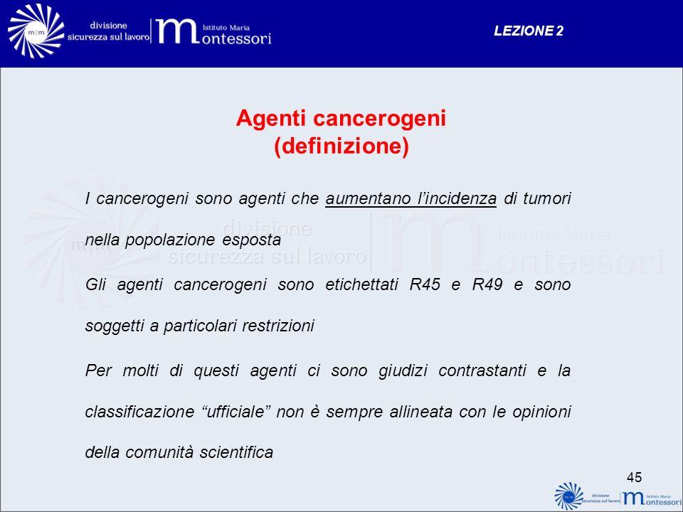 Agenti cancerogeni (definizione)