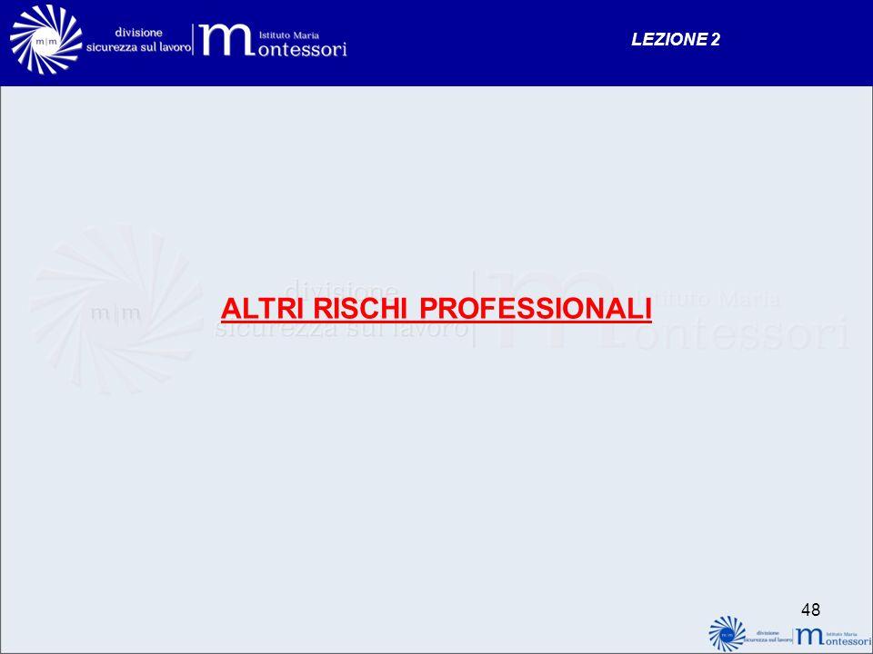 ALTRI RISCHI PROFESSIONALI