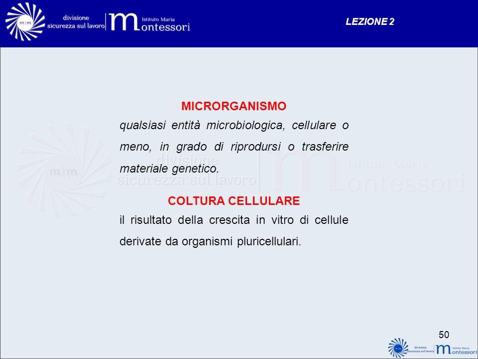 MICRORGANISMO COLTURA CELLULARE