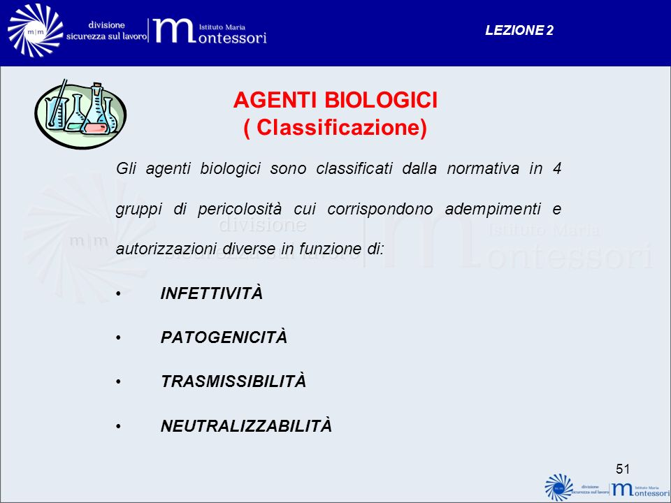 AGENTI BIOLOGICI ( Classificazione)