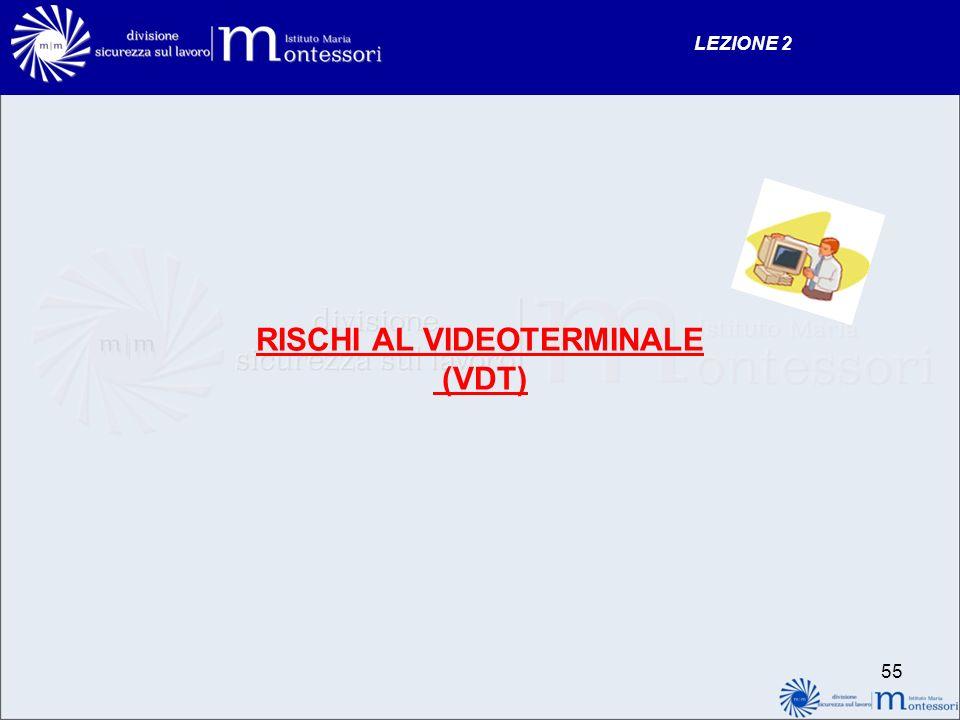 RISCHI AL VIDEOTERMINALE