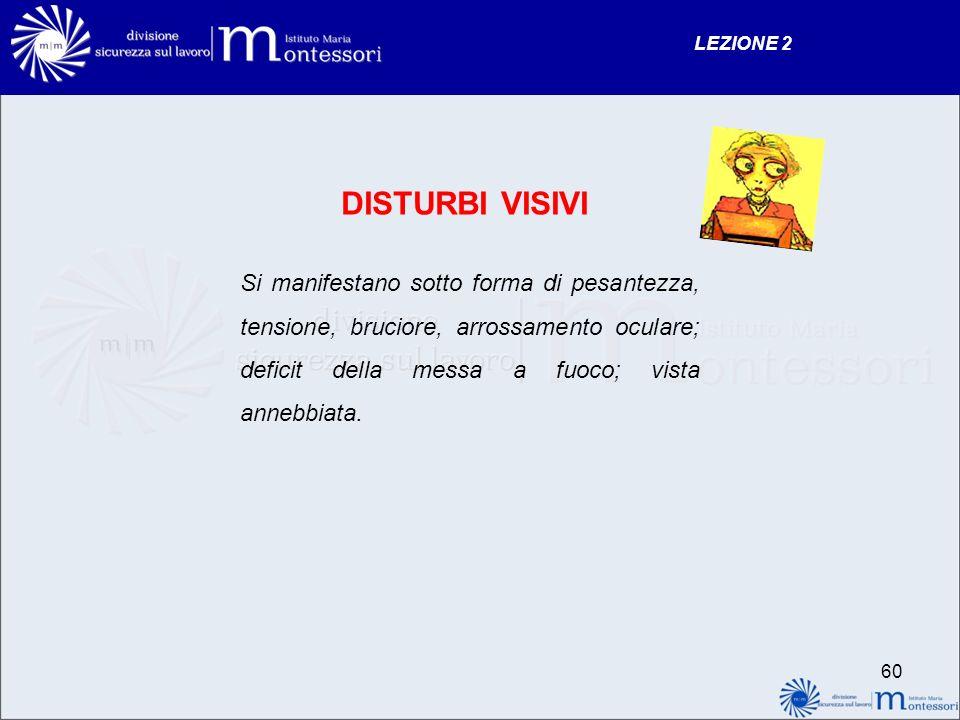 LEZIONE 2 DISTURBI VISIVI.