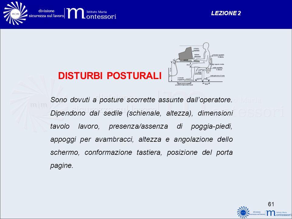 LEZIONE 2 DISTURBI POSTURALI.
