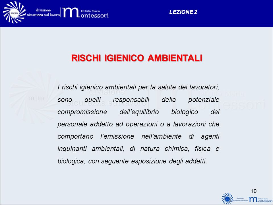 RISCHI IGIENICO AMBIENTALI