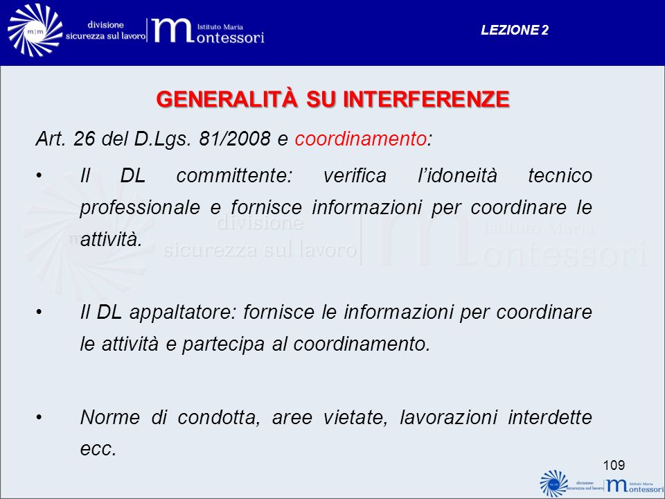 GENERALITÀ SU INTERFERENZE