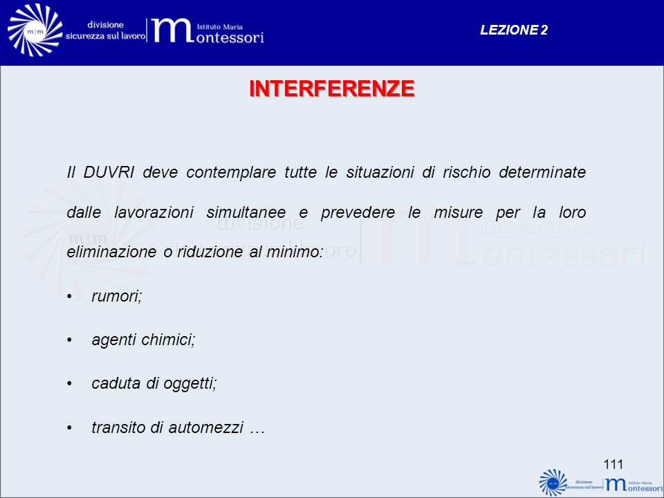 LEZIONE 2 INTERFERENZE.