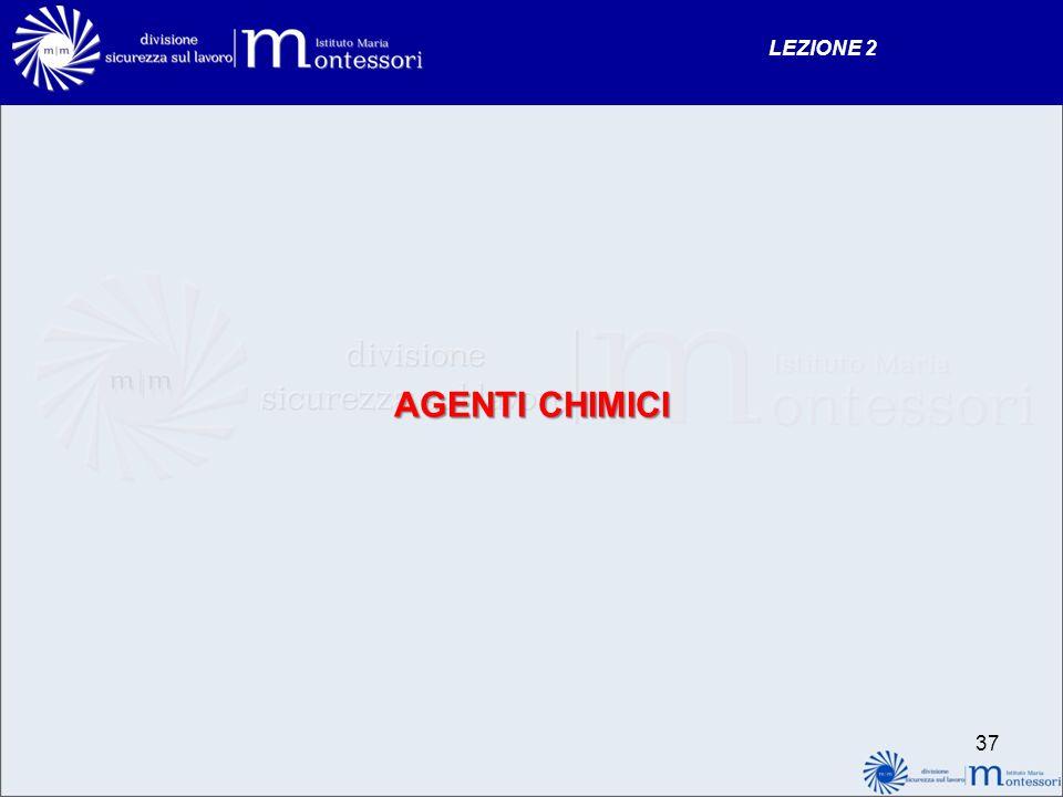 LEZIONE 2 AGENTI CHIMICI 37