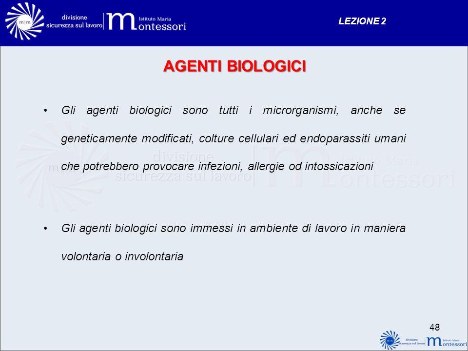 LEZIONE 2 AGENTI BIOLOGICI.