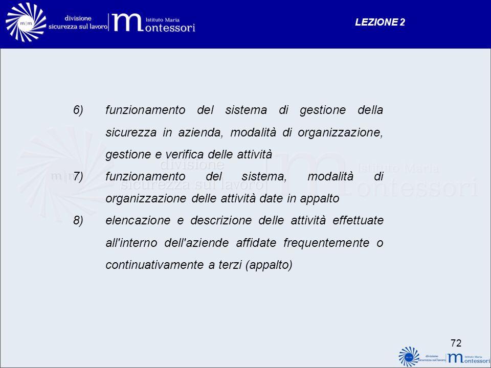 LEZIONE 2 funzionamento del sistema di gestione della sicurezza in azienda, modalità di organizzazione, gestione e verifica delle attività.