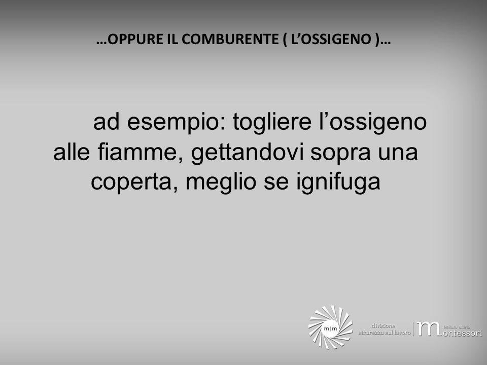 …OPPURE IL COMBURENTE ( L'OSSIGENO )…