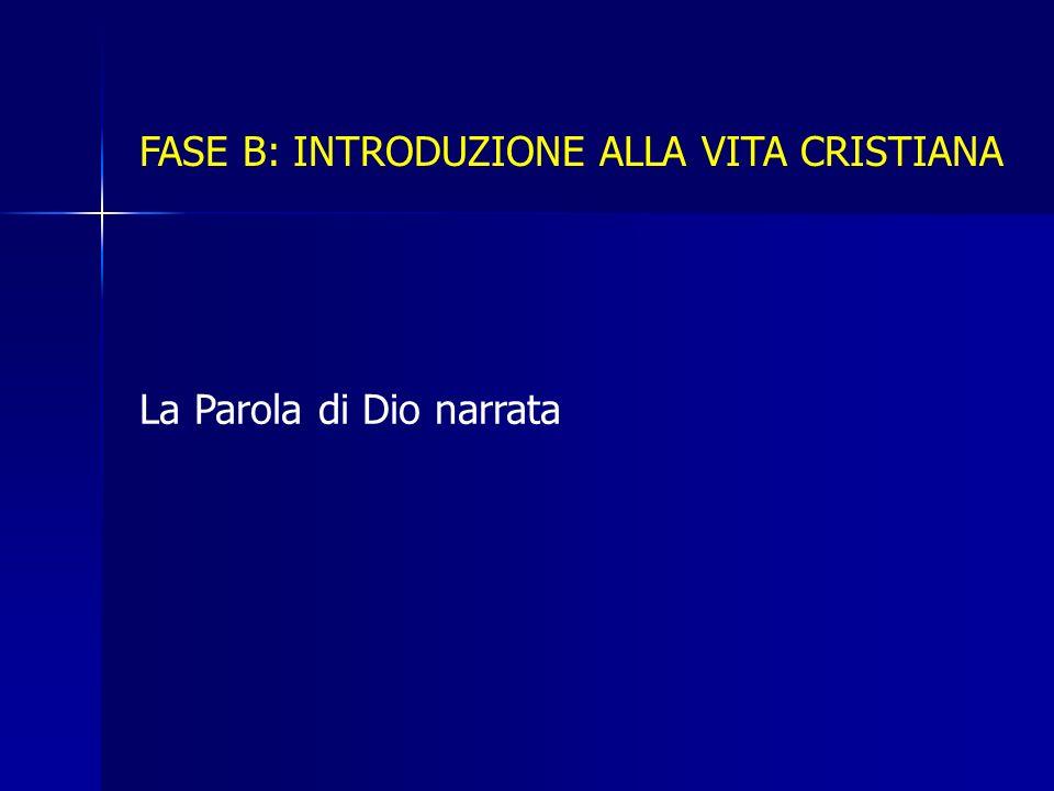 FASE B: INTRODUZIONE ALLA VITA CRISTIANA