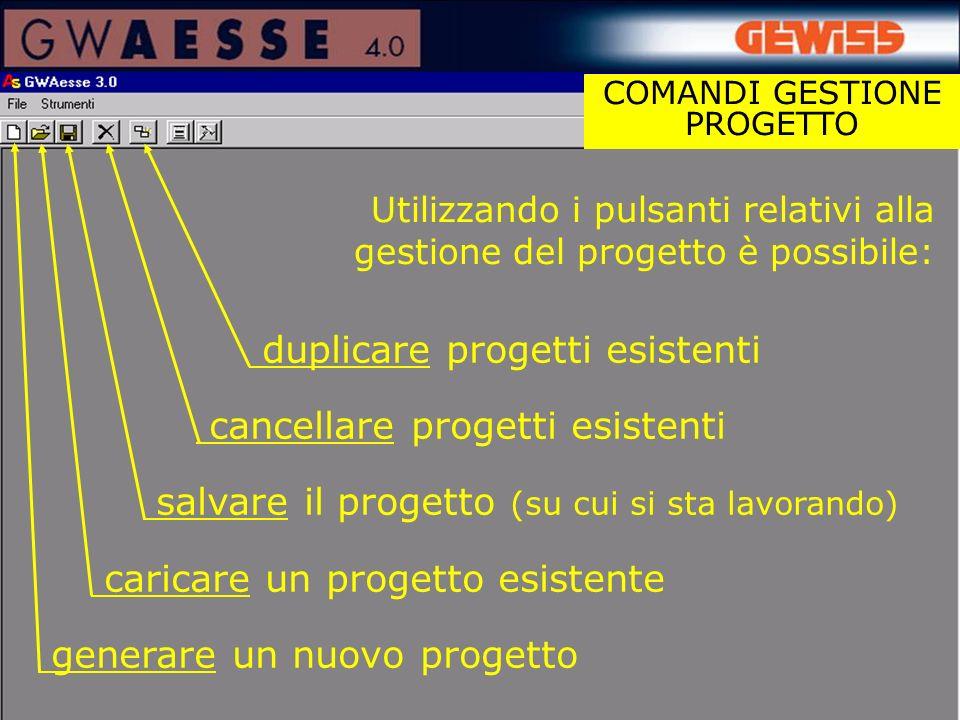 COMANDI GESTIONE PROGETTO