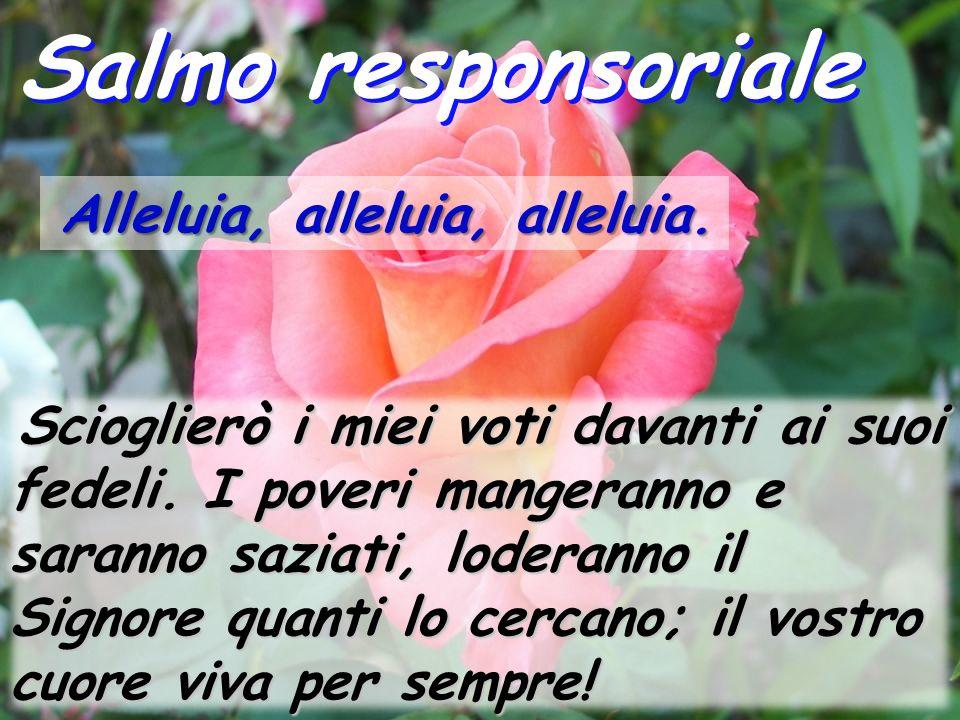 Salmo responsoriale Alleluia, alleluia, alleluia.