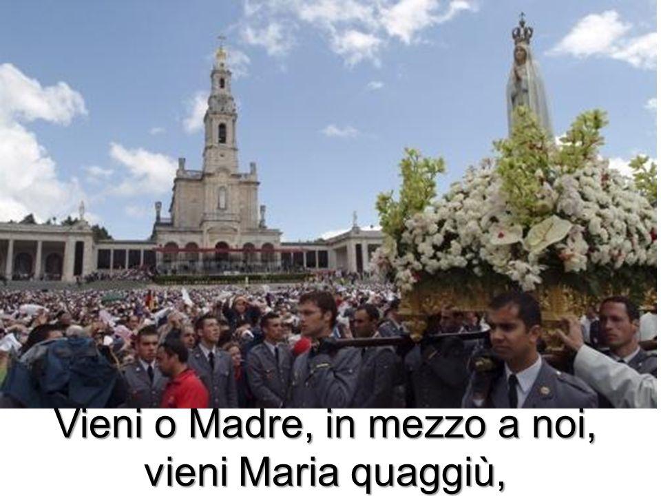 Vieni o Madre, in mezzo a noi, vieni Maria quaggiù,
