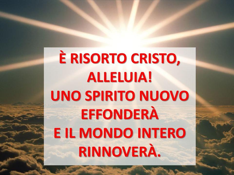 È RISORTO CRISTO, ALLELUIA! UNO SPIRITO NUOVO EFFONDERÀ