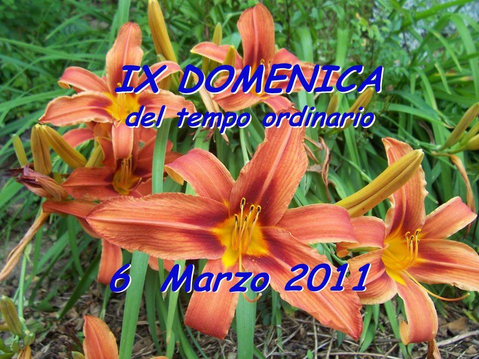 IX DOMENICA del tempo ordinario 6 Marzo 2011
