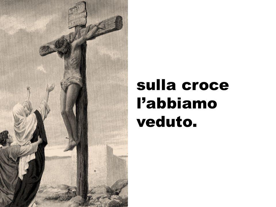 sulla croce l'abbiamo veduto.