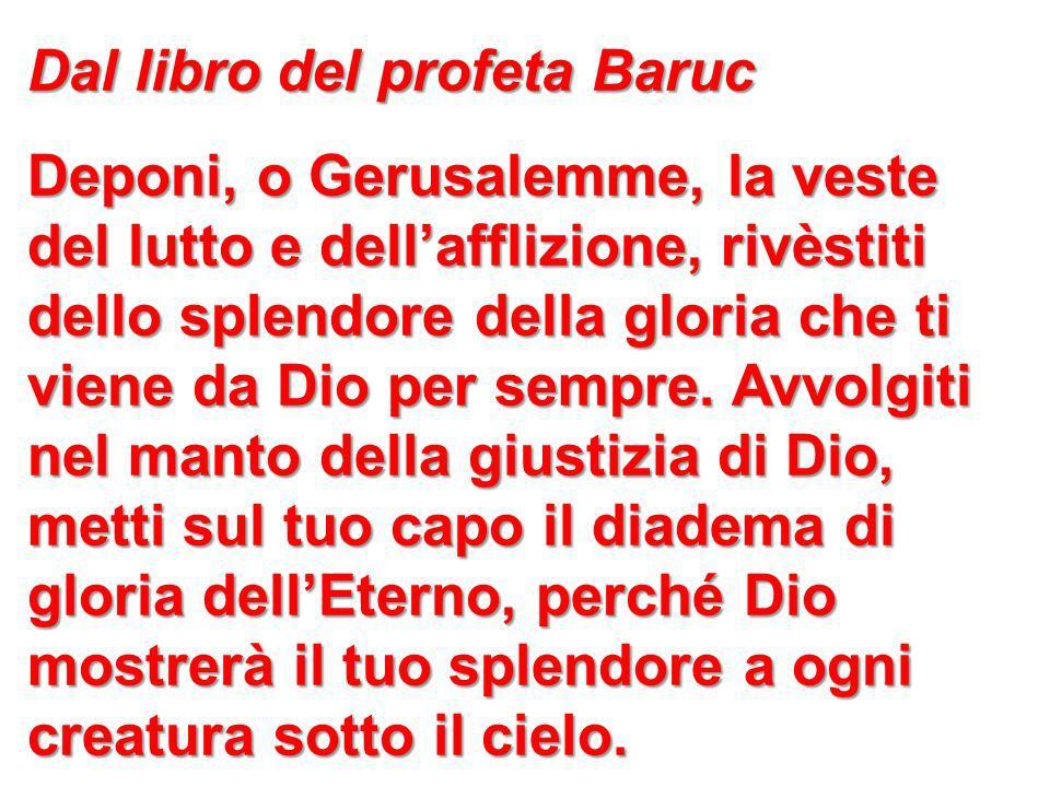 Dal libro del profeta Baruc