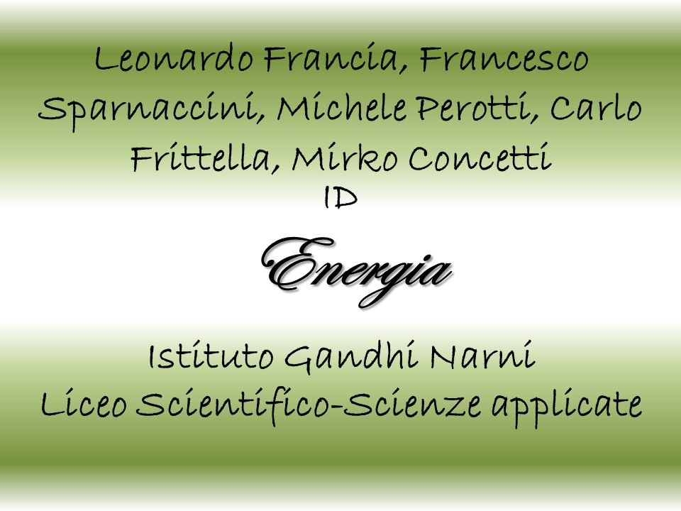 Liceo Scientifico-Scienze applicate